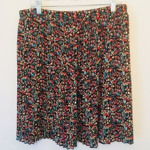 Anthropologie Tabitha Tulips Floral Pleated SkirtM